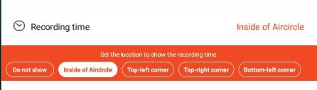 ظهور توقيت التسجيل على الشاشة
