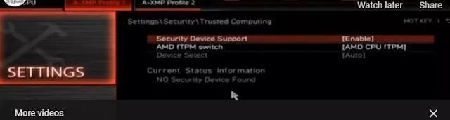 مشكلة عدم توافق ويندوز 11 - pc cant run windows 11 -TPM 2.0 -fixed 5