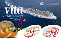 Logo Strafrutta ''La Vita è Grandiosa con Sugar'': vinci Crociere MSC nel Mediterraneo