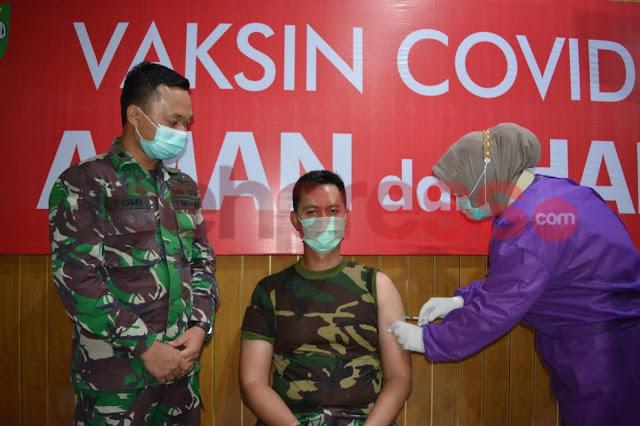 Usai Laksanakan Vaksin Covid 19, Dandim 0103/Aceh Utara Ajak Masyarakat Kota Lhokseumawe dan Kabupaten Aceh Utara Untuk Melaksanakan vaksinasi Covid 19