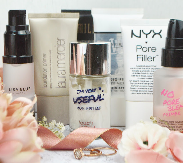 Lovelaughslipstick Blog 7 Favourite Primers - Touch in Sol, NYX, Laura Mercier, Milani, Wonderland Makeup, Lisa Blur