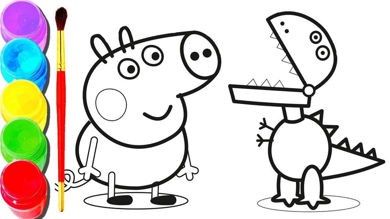 Peppa Pig para imprimir e colorir
