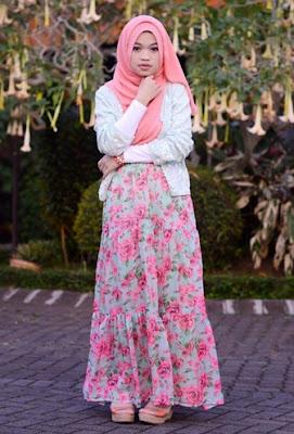 baju muslim bunga