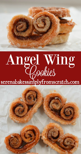 Angel Wing Cookies are a fun Christmas time favorite! serenabakessimplyfromscratch.com