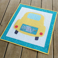 License to Shop car row by row license plate mini quilt