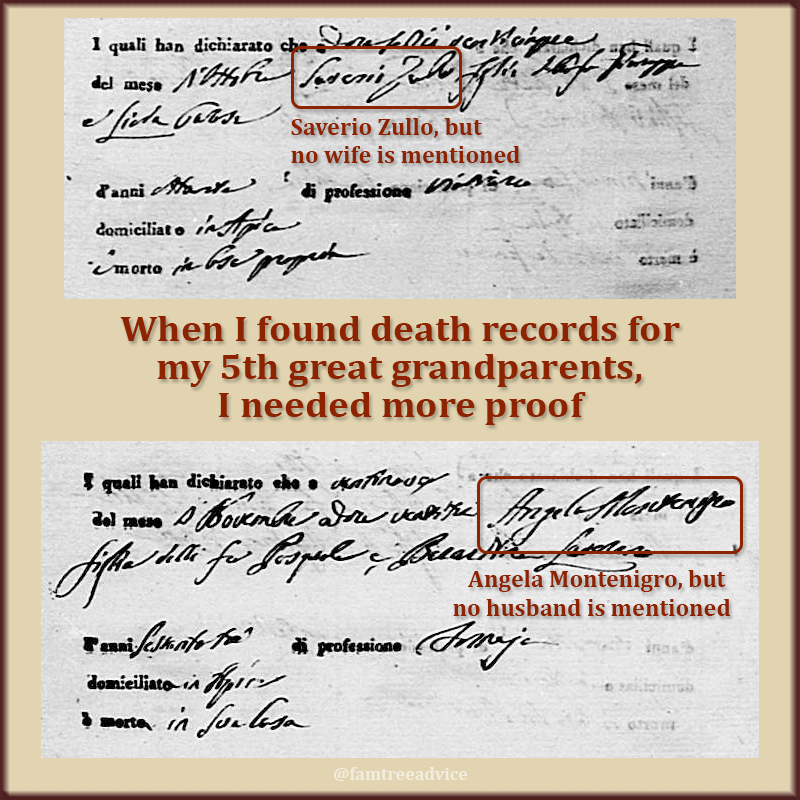 It isn't time to rejoice yet. These documents aren't definitively my 5th great grandparents.
