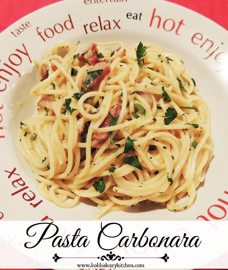 Pasta Carbonara Bobbis Kozy Kitchen