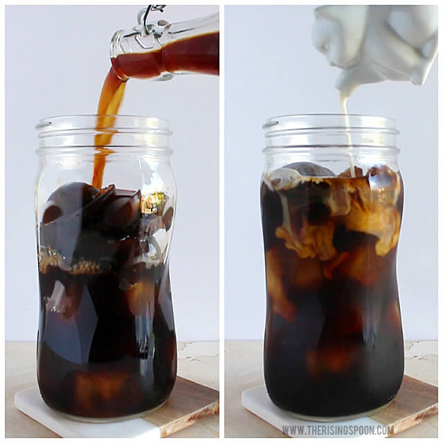 Making Cold Brew Coffee with Coffee Ice Cubes