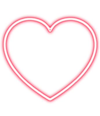 full hd neon heart png
