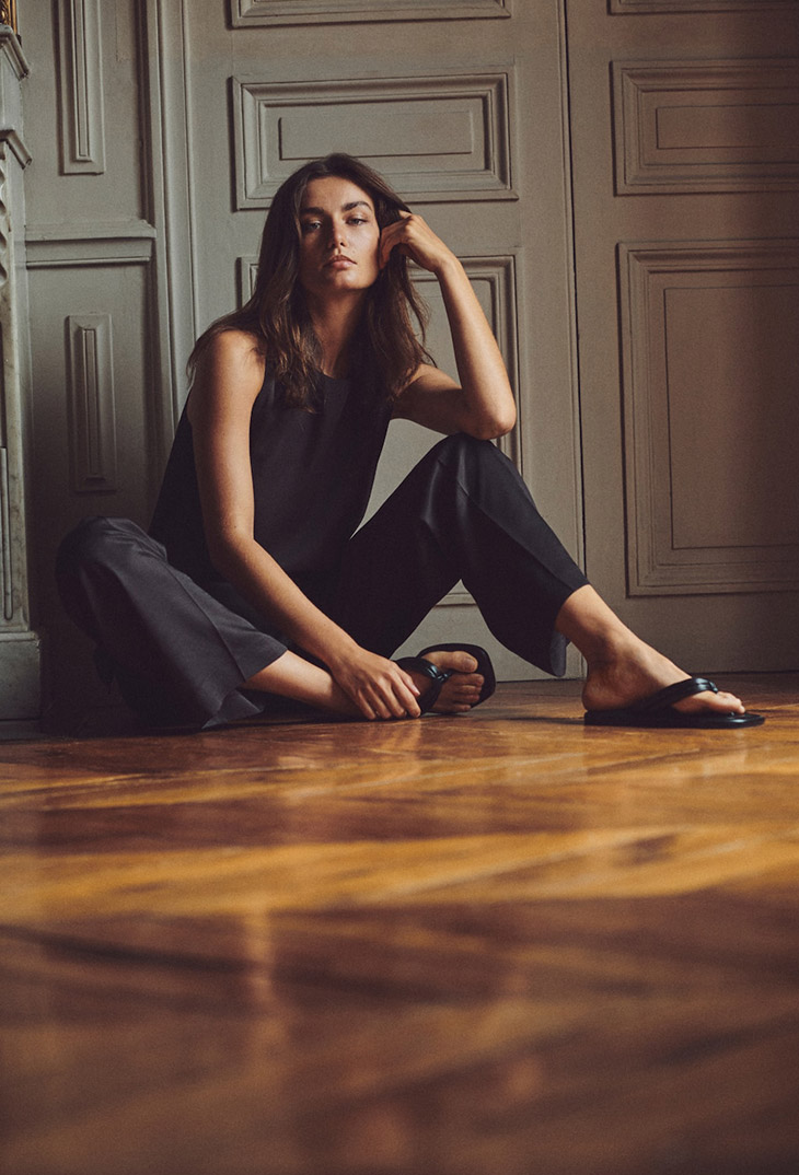 Andreea Diaconu Poses in Massimo Dutti's Minimal Styles