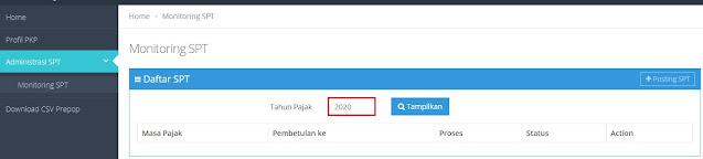 Cara Cetak SPT Masa PPN di e-Faktur Web Based