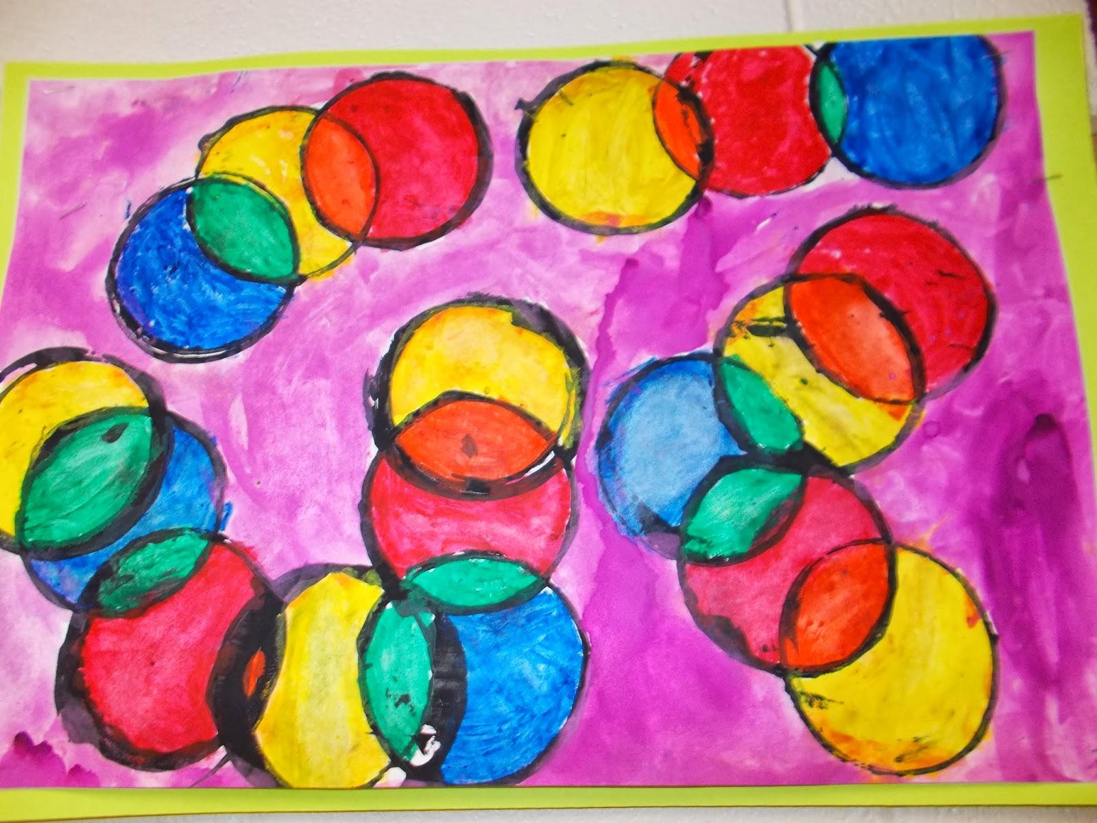 Mrs Pierce S Polka Dot Spot Kandinsky Color Mixing