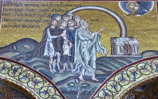Monreale Cathedral Mosaics including Noah and the Rainbow.