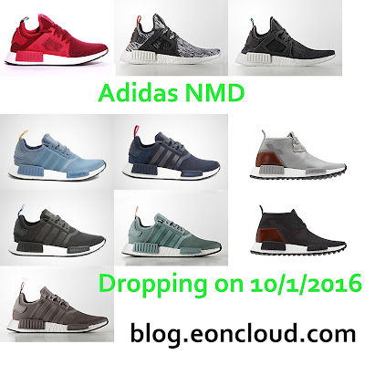 Adidas ready to release 10 new colorways for their popular NMD line on 10/1