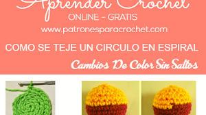 Cómo tejer un círculo en espiral a crochet / Aprende Crochet