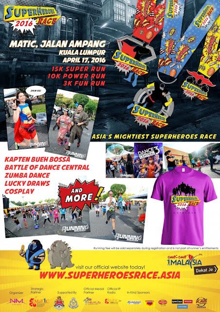 LARIAN BERTEMAKAN SUPERHERO | Superheroes Race 17 April 2016 di Matic Jalan Ampan