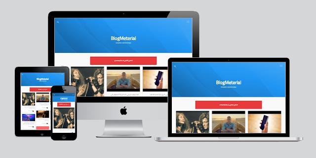 جديد تحميل قالب BlogMeterial مصمم بالماتريال ديزاين بدون حقوق
