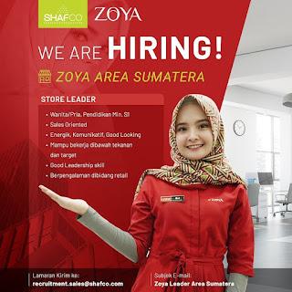 Info Lowongan Kerja Store Leader Zoya Sumatera