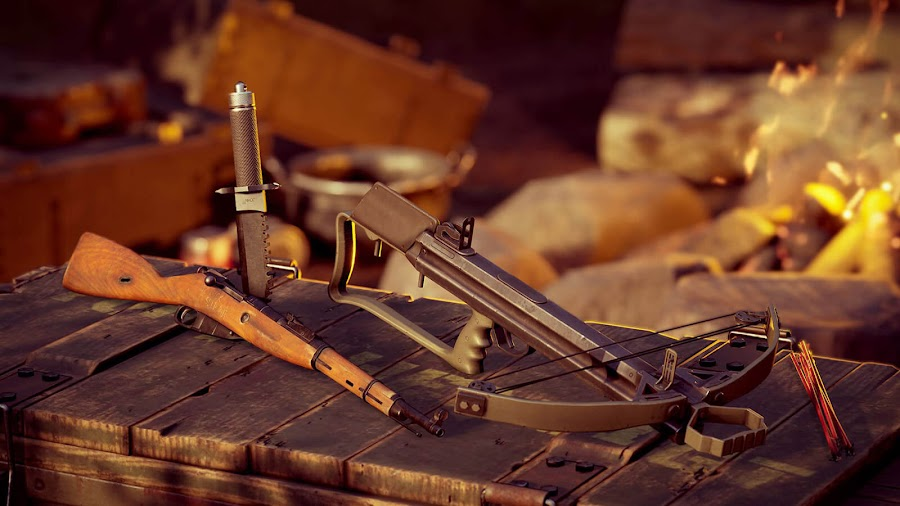vigor update 2.0 hunters battle pass outlanders february 2020 season 2 battle pass crossbow mosin nagant fake glint tool portable signal detector xbox one bohemia interactive