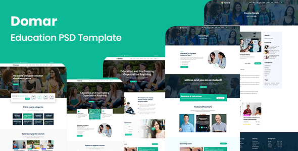 Domar - Education PSD Template