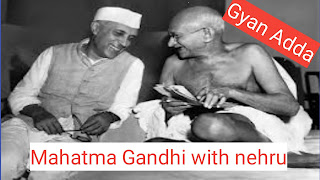 Mahatma Gandhi with nehru