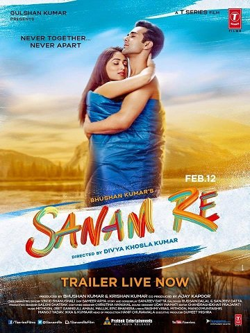 Poster Of Sanam Re 2016 720p DVDRip Hindi Full Movie Download