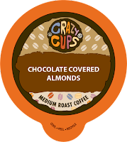 crazy cups chocolate covered almonds pack