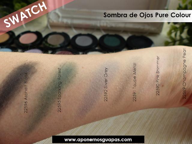 Swatch sombra de ojos Pure Colour Oriflame A Ponernos Guapas 1