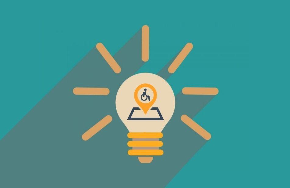 A imagem mostra uma lâmpada e dentro dela a logomarca do território deficiente