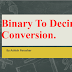 Conversion Between Decimal Numbers and Binary