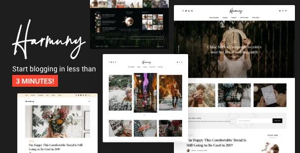 Elegant and Modern Design WordPress Blog Theme