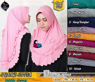 Khimar Syari Bubble Jersey Model Pinguin Antem