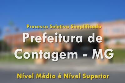 Apostila Prefeitura de Contagem 2017 Processo Seletivo Simplificado mg.