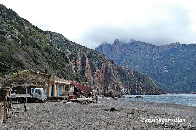 Dåligt väder på Korsika
