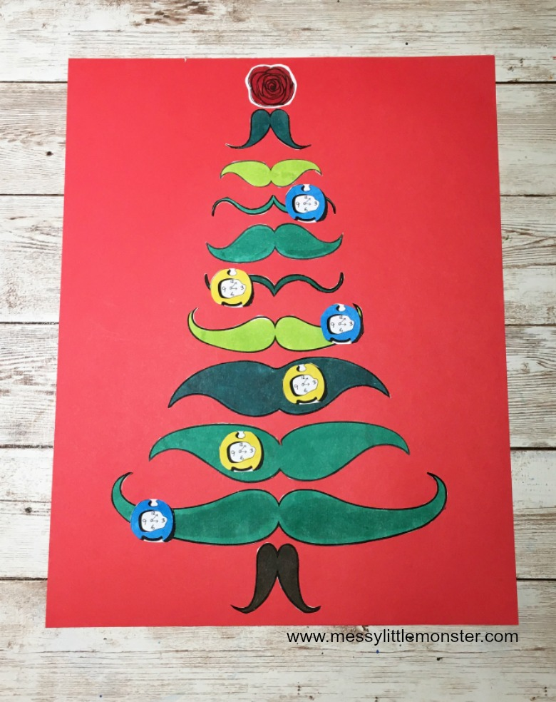 Dali Christmas tree craft for kids