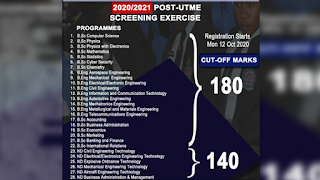 AFIT UTME Cut-Off Marks 2020/2021 | ND & Degree