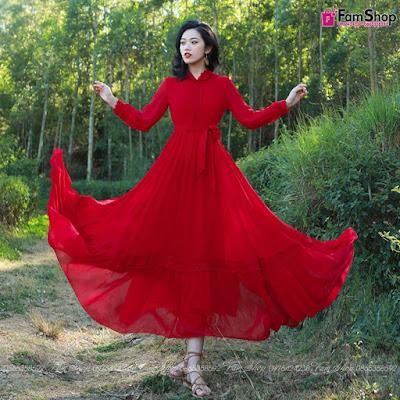Địa chỉ bán váy maxi đi biển tại Bà Triệu