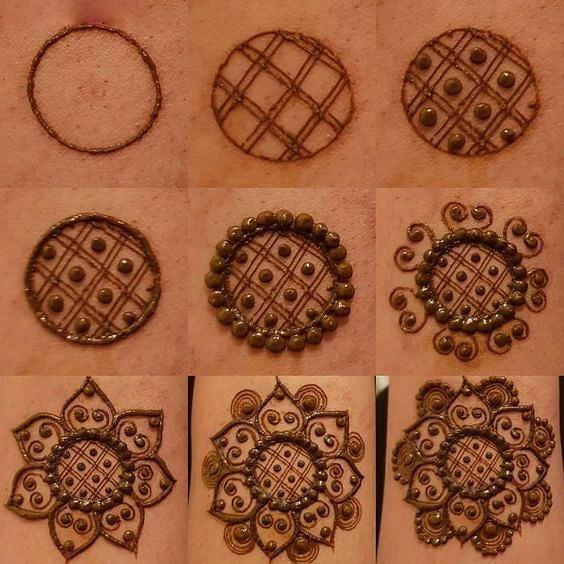 Super Easy Simple and Beautiful Gol Tikki Mehndi Design - WallpaperDPs