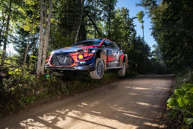 Ott Tanak on Rally Estonia Shakedown stage