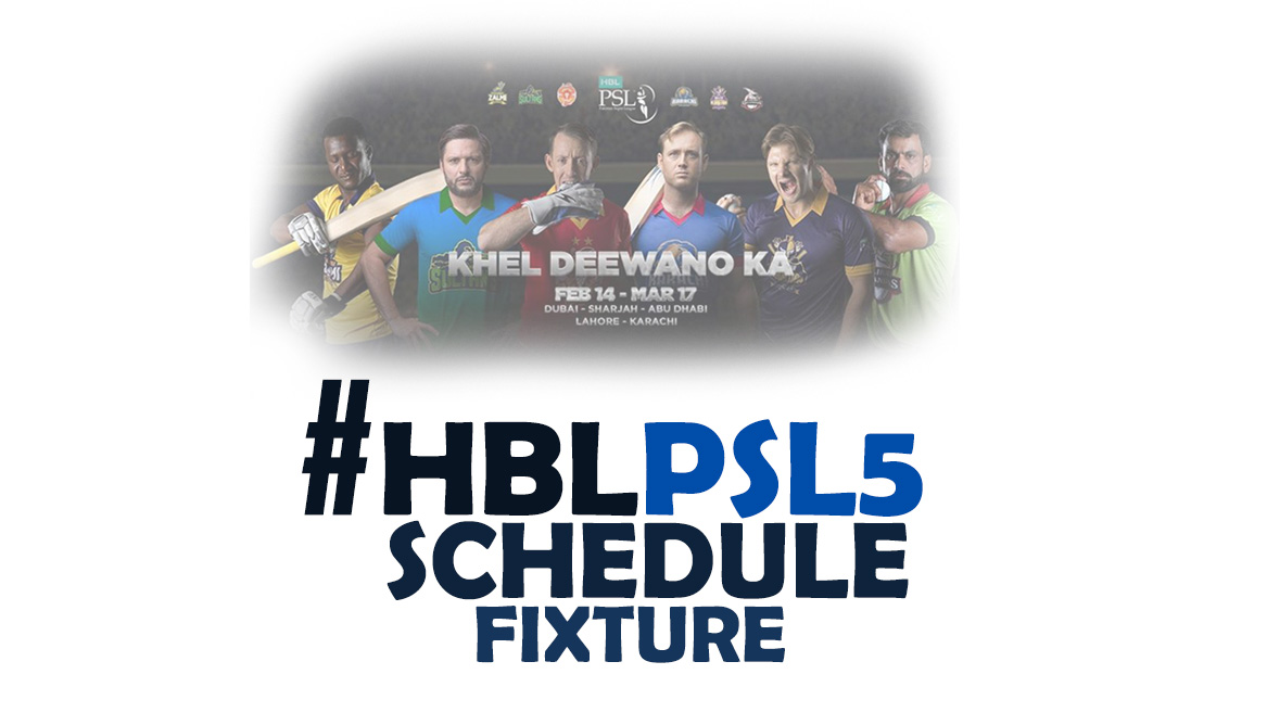 Pakistan Super League (#PSL5) Schedule, Team, Venue, Time Table, PDF, Point Table, Ranking & Winning Prediction.