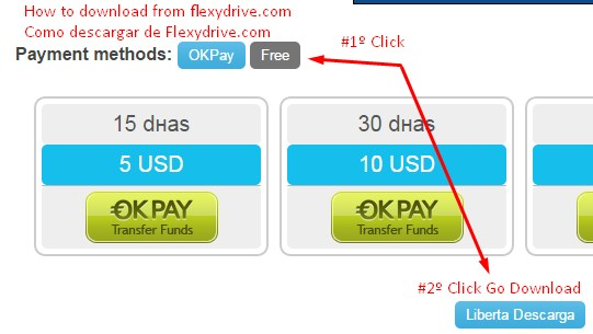 How to download from flexydrive Como descargar de flexydrive