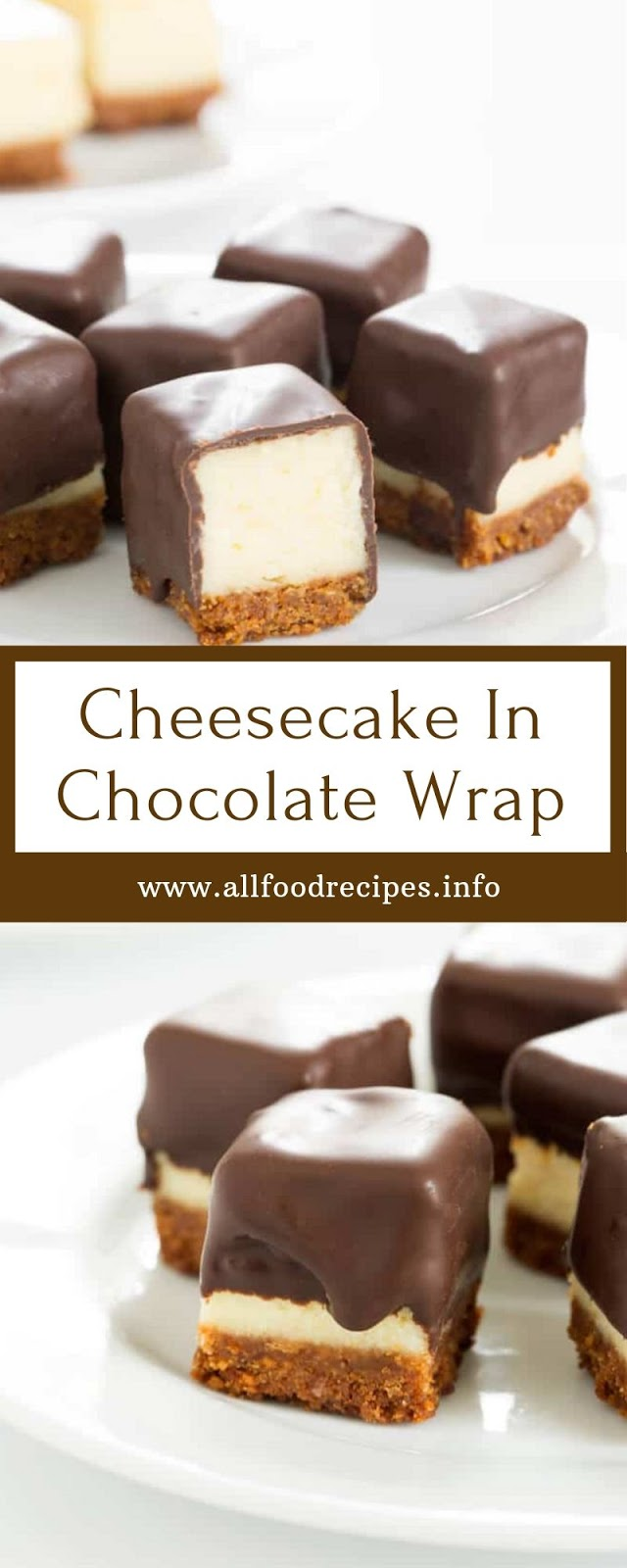 Cheesecake In Chocolate Wrap