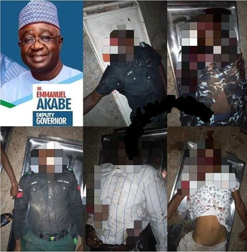 Horror As Armed Robbers Ambush Deputy Governor's Convoy, Kill 3 Policemen (Graphic Photo)