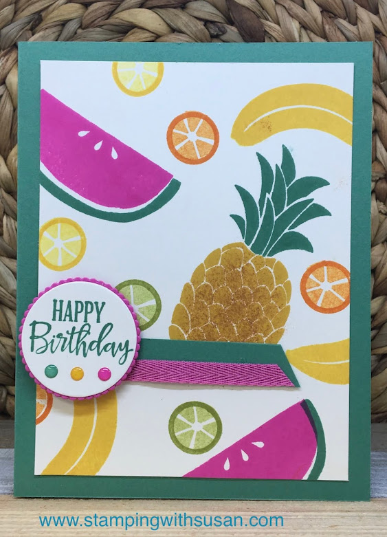 Stampin' Up!, 2020 - 2022 In Color, Cute Fruit, www.stampingwithsusan.com, Beginner Brochure,