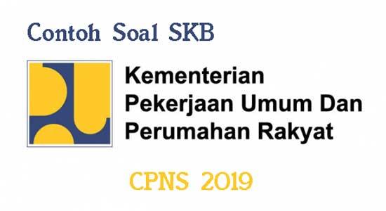 contoh soal skb kementerian pupr cpns 2019