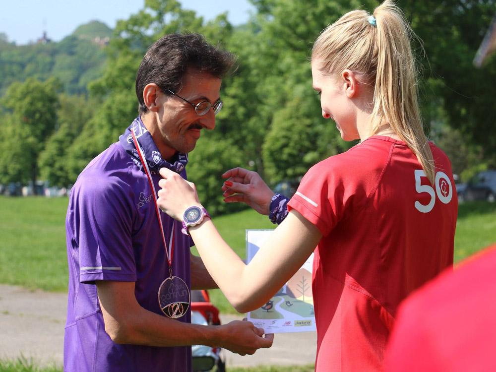 Parkrun Kraków medal