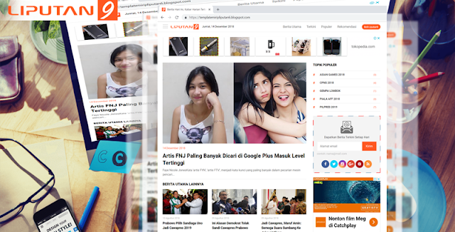 Download Template Mirip Website Liputan 6