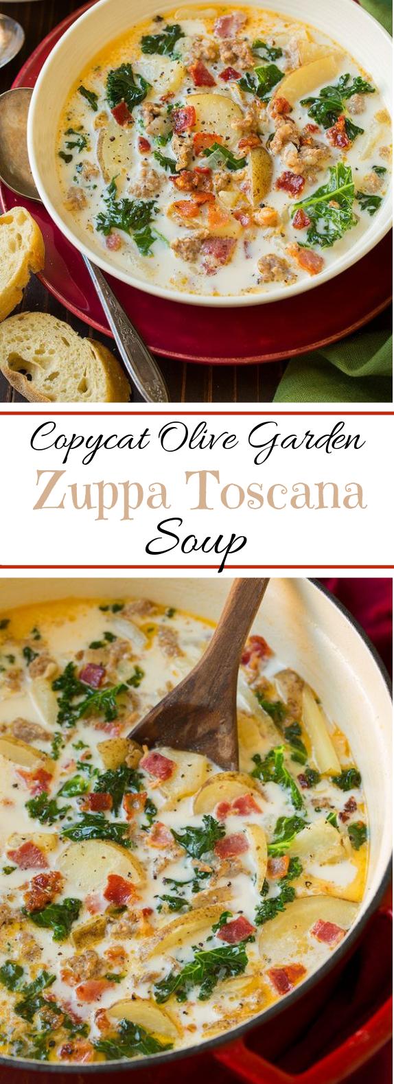 Zuppa Toscana Soup (Olive Garden Copycat) #winterrecipe #soup