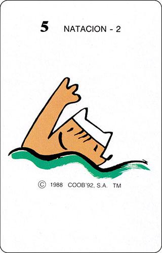 Baraja Cobi Heraclio Fournier Carta 5 Natación 2