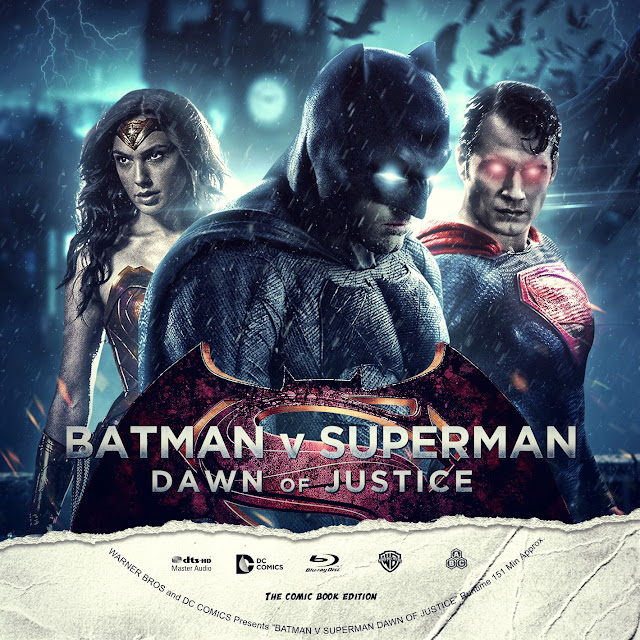 Batman v Superman: Dawn of Justice Bluray Label